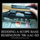 How To Bed A Scope Base - Remington M700 .308 AAC-SD Tactical Rifle