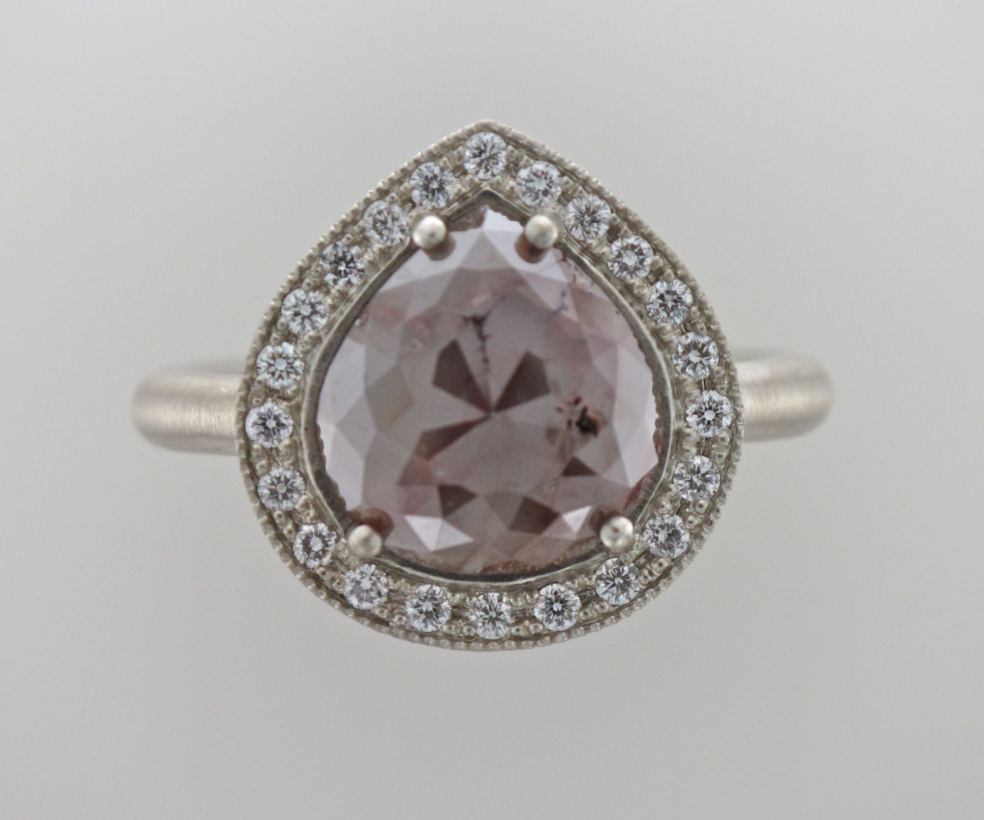 Rose cut natural raw Diamond ring