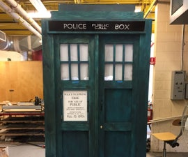 Full Scale TARDIS Shed/Storage Build!