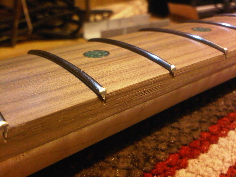 Neck 1.05. Fret Board Finishing and Fretting.