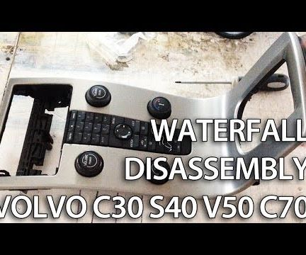 Waterfall console disassembly Volvo C30, S40, V50, C70