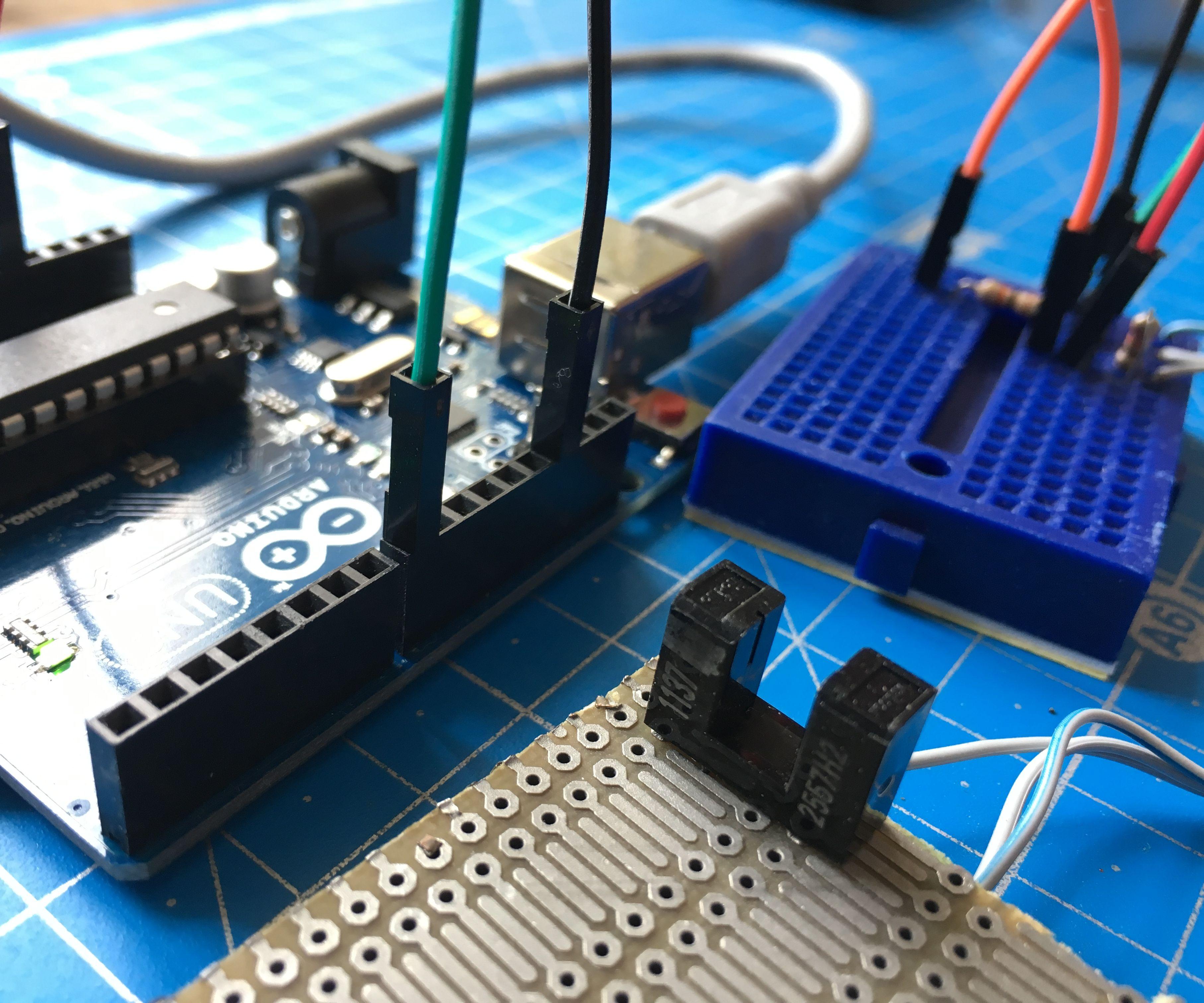 Photomicrosensor to Arduino