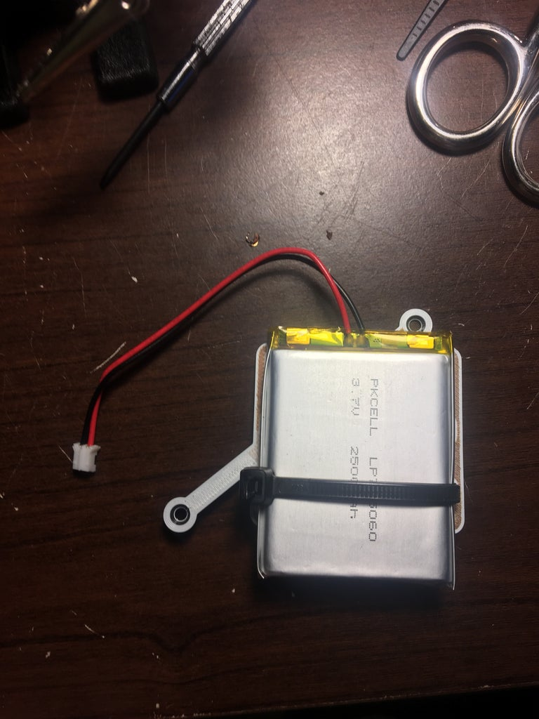 Mount LiPo Battery to Frame