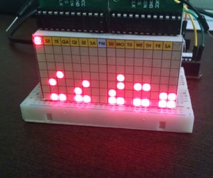 Digital and Binary Clock With Two LED Matrix and RTC
