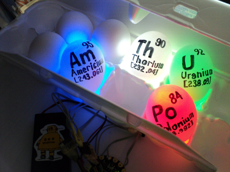 Periodic Table Glowing Radioactive Eggs