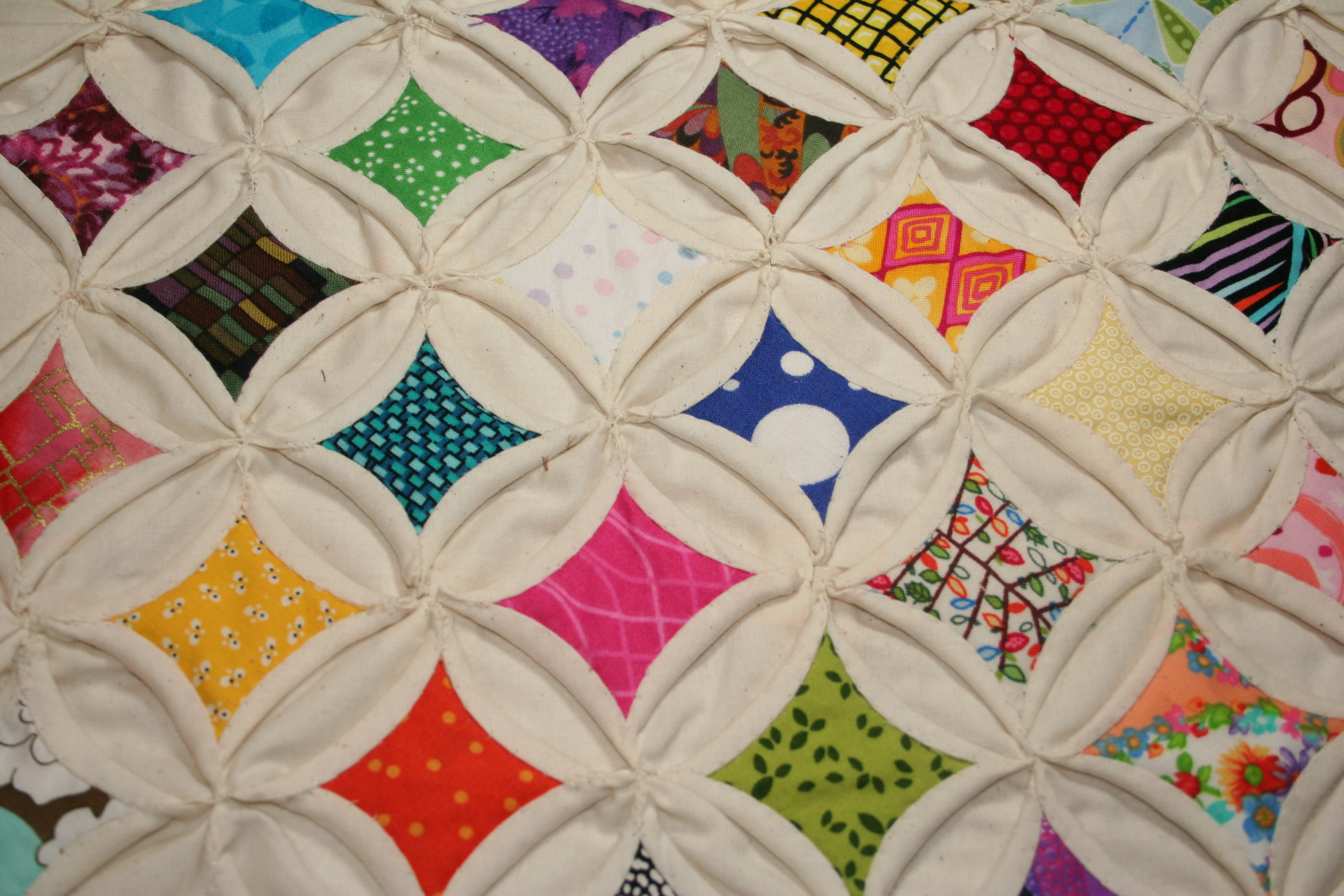 Cathedral Windows Quilt Squares