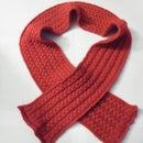 Cable-plait scarf