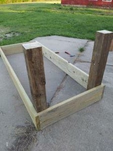 Attach the Posts to the Box Frame