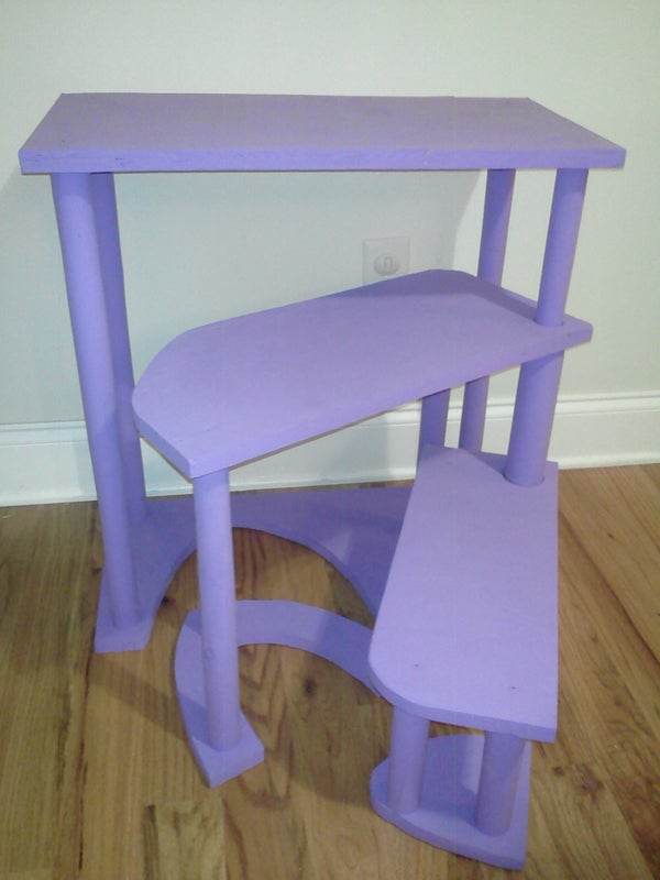 Narrow Transformable  Spiral Step Stool From Scrap Wood