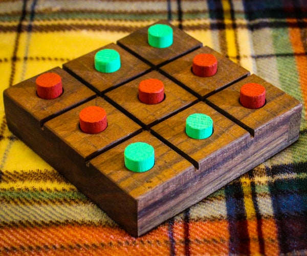 Wood Tic Tac Toe Board