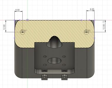 Design Process - Moving Load Cell Mount - Reinforcement Holes