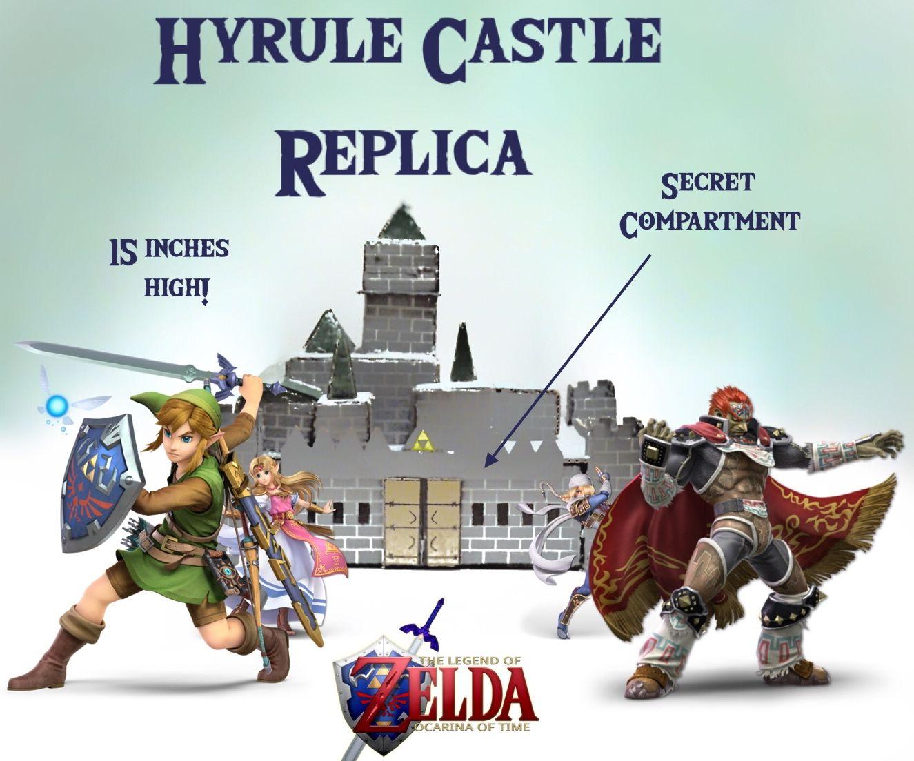 Hyrule Castle Replica W/ Secret Compartment