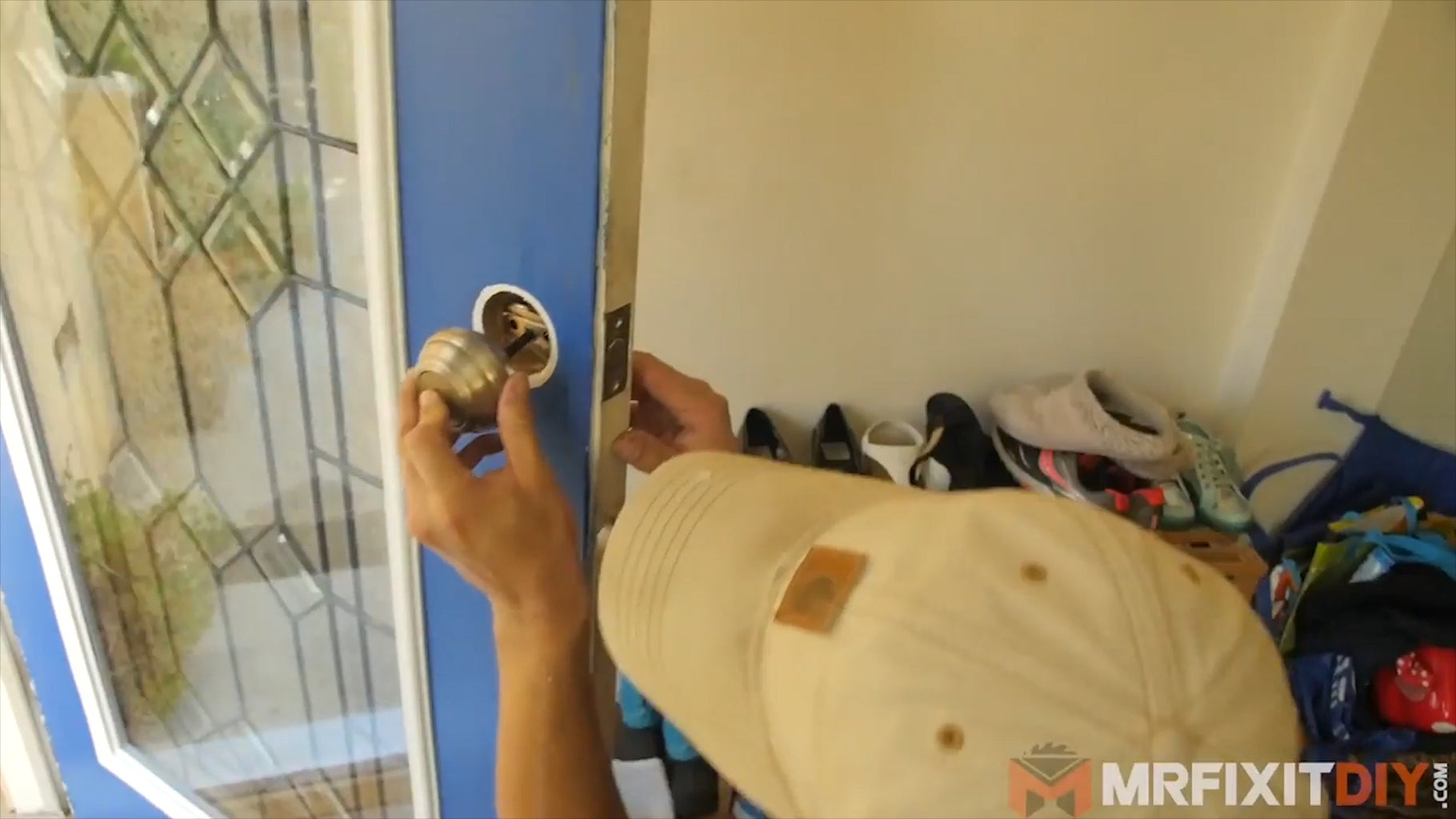 Install the New Glass Insert and Reinstall the Door