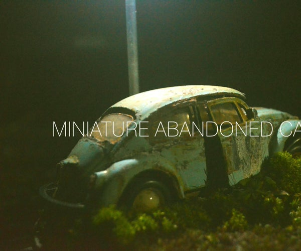 Miniature Version Abandoned Car