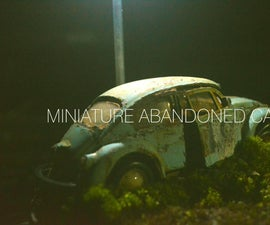 Miniature Version Abandoned Car
