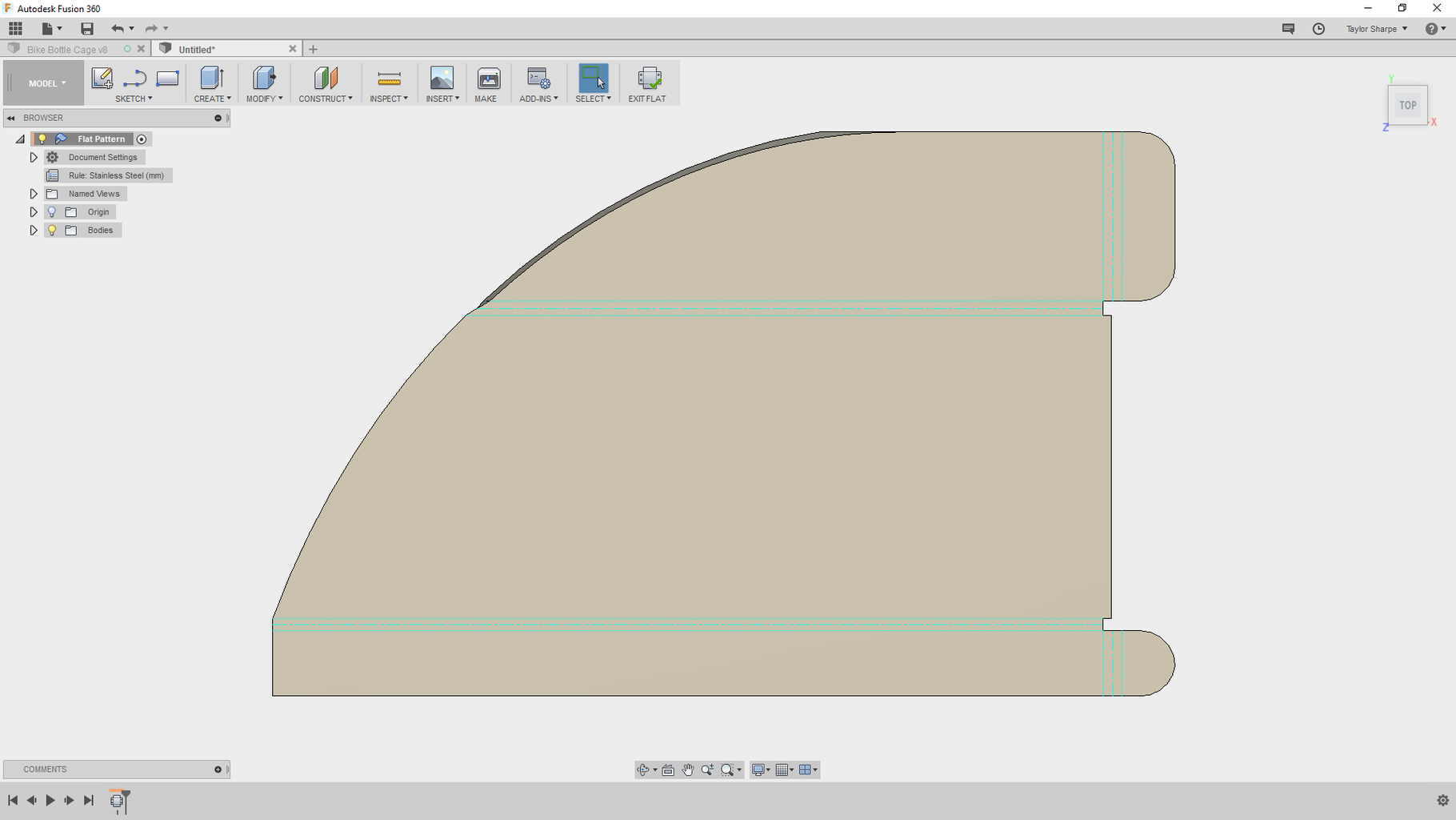 Add an Arc to the Flange Design