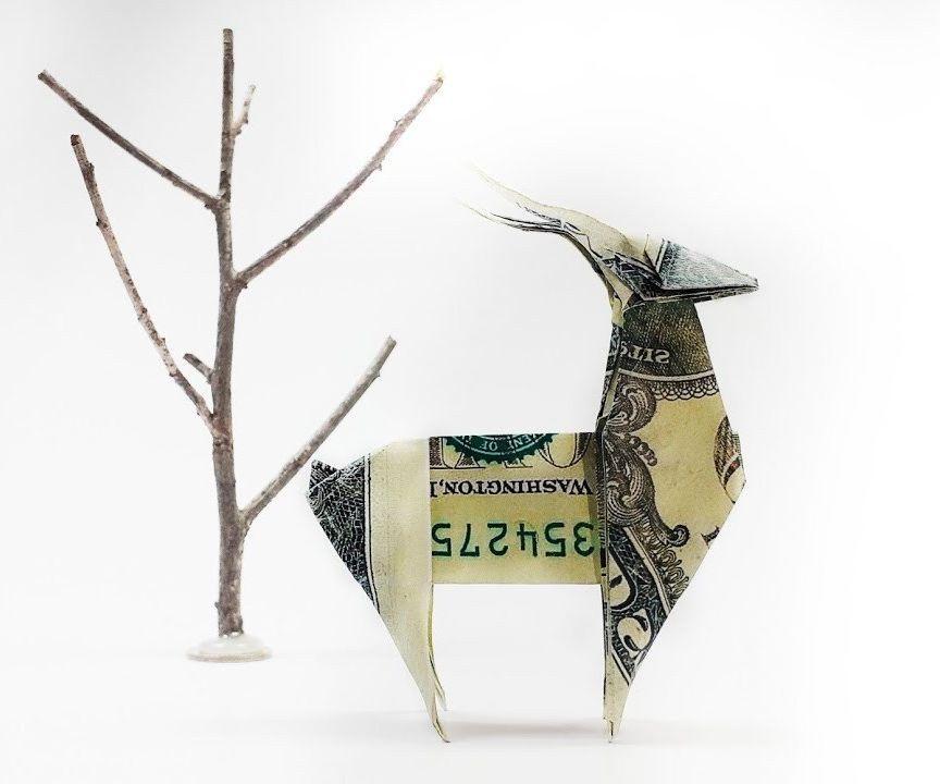 Money Origami Deer