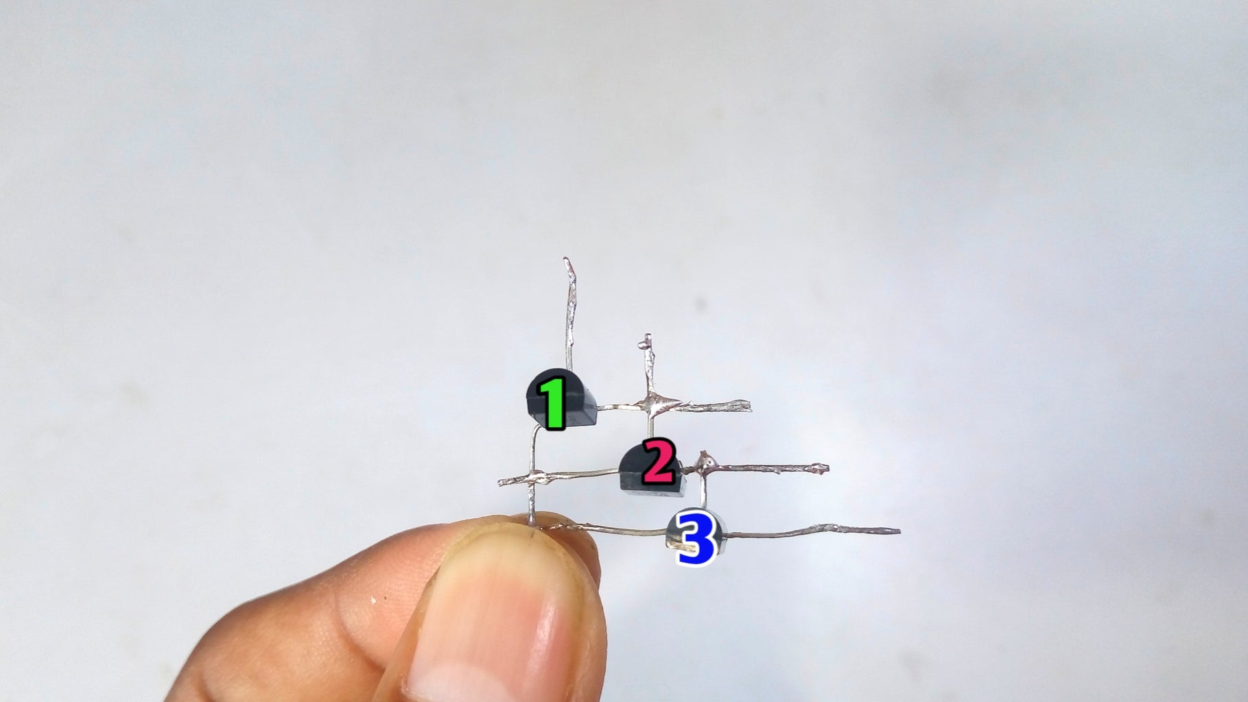 Next Connect All Three Transistors As Picture