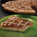 Homemade Blackberry Jam and Streusel Dessert Pizza W/Lemon Drizzle