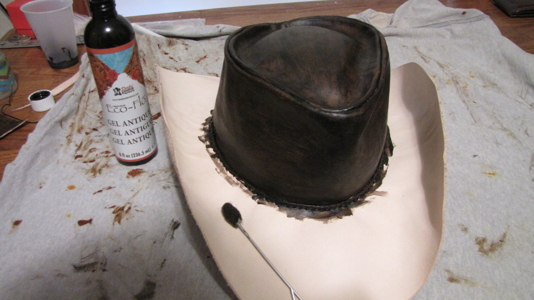 Staining and Putting a Finish on the Hat