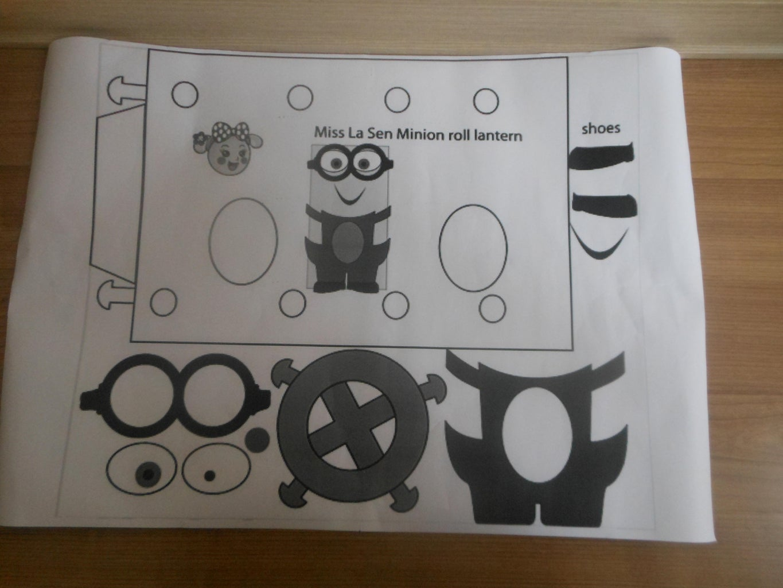 Print It in A2 Size Paper. Use the Foam, Glue Gun, Pencil and Scissors to Make the Lantern.