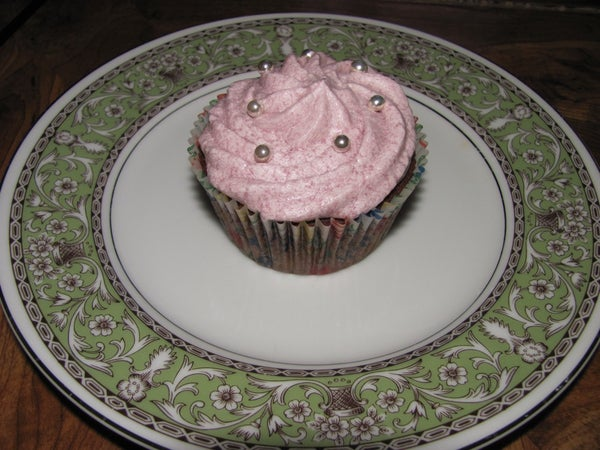Chocolate Stress Relief Cupcakes With Blueberry Buttercream
