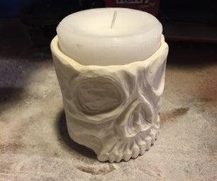 Skull Candle Holder - PVC