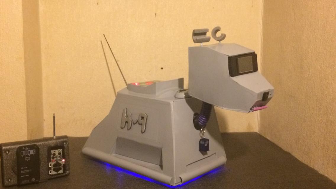 Cardboard Radio Controlled K-9, that Talks