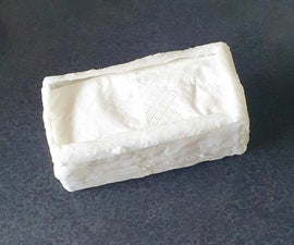 Tissue Box Made From a Tissue Paper, Super Glue and Baking Soda