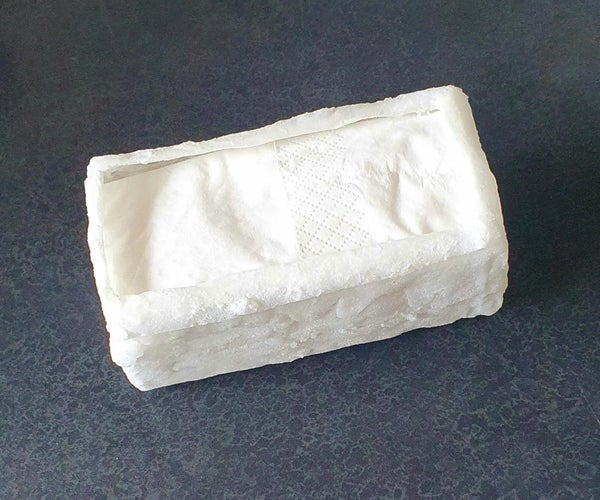 Tissue Box Made From a Paper Tissue, Super Glue and Baking Soda
