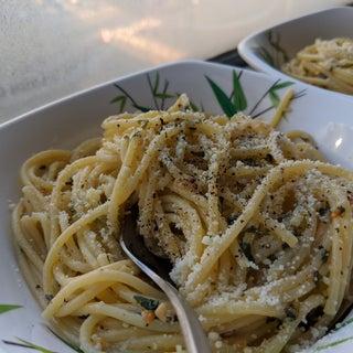 Italian Style Spaghetti (spaghetti With Garlic and Oil)
