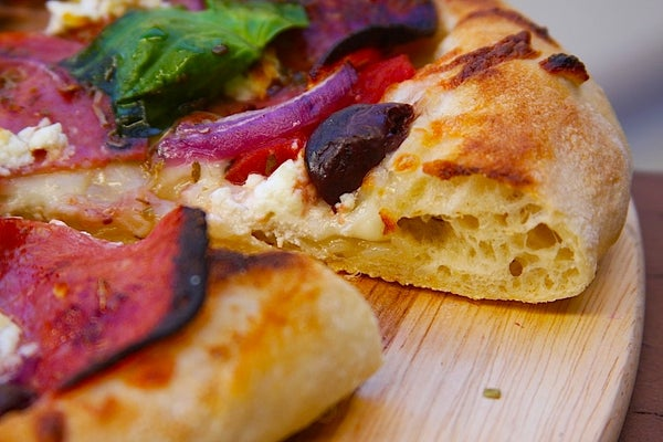 Slightly Sourdough Pizza Crust