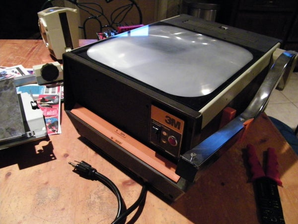 Build an Image Projector/enlarger From an Over Head Projector.