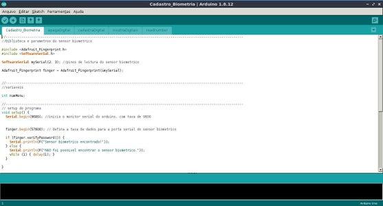 """Software - Explicação Do Código """"Cadastro_Biometria"""""""
