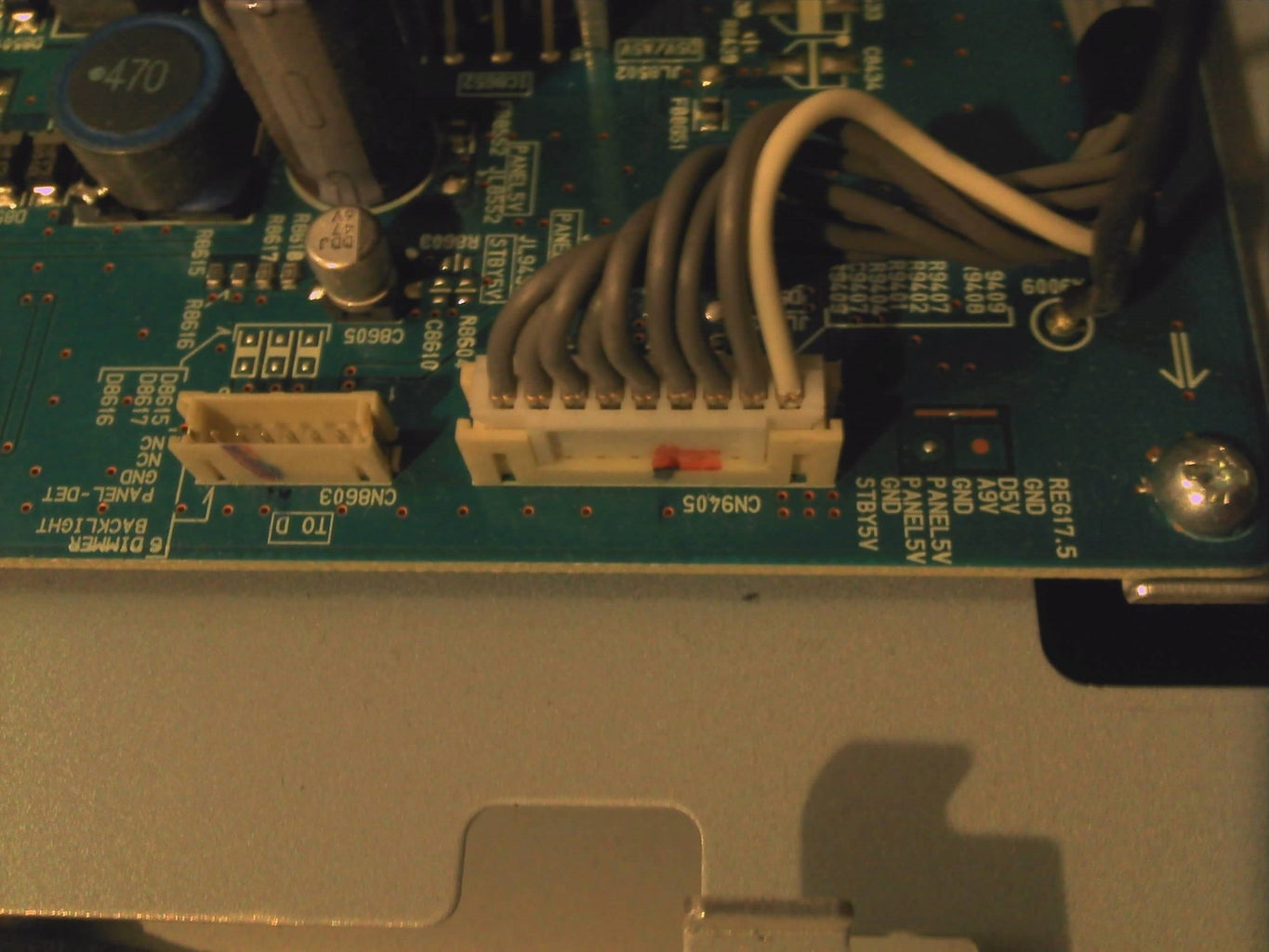 """Finding How to Jumpstart the 40"""" PSU Without Logic Board"""