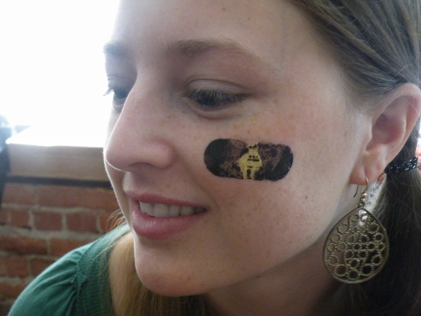 Sport-style Face-painting Decal Stencil