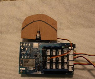 Analog-Style Temperature Meter and DataLogger With Intel Edison