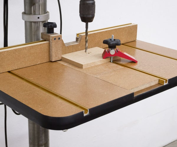 Drill Press Table and Fence