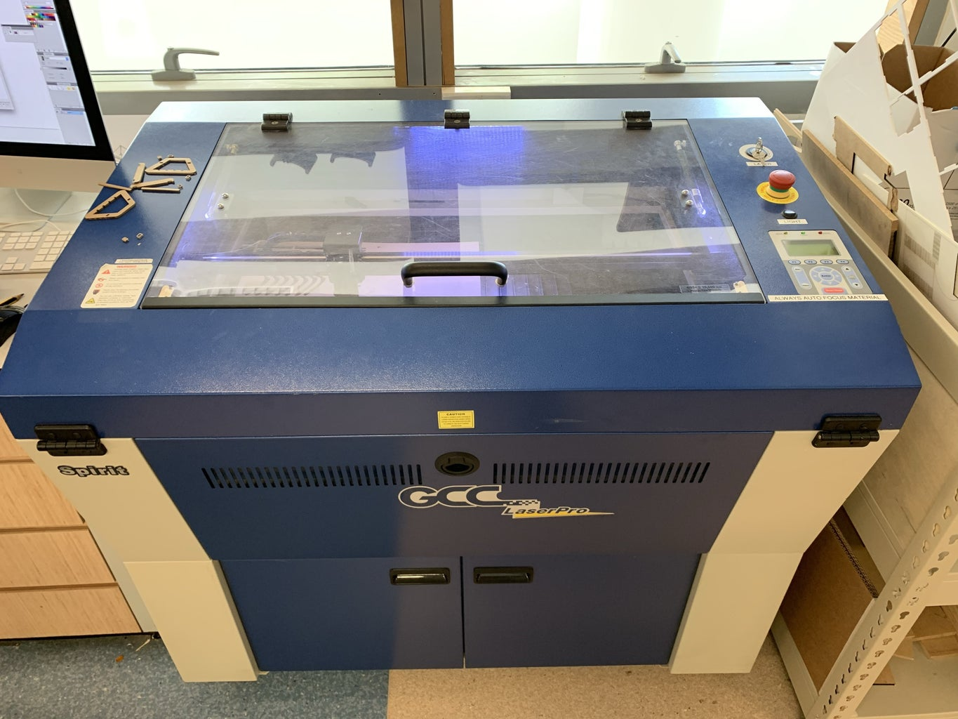 Setting Up the Laser Cutter + Material