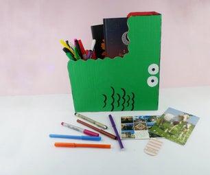 DIY Crocodile - Kids Bookshelf - Organizer