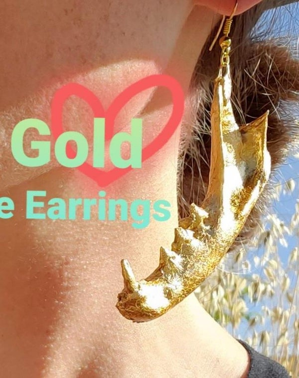 24kt Gold Jawbone Earrings