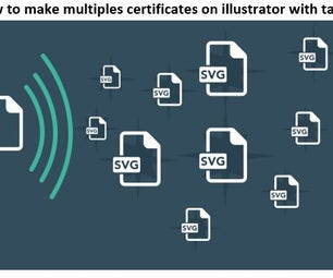 How to Make Multiples Certificates on Illustrator With Table