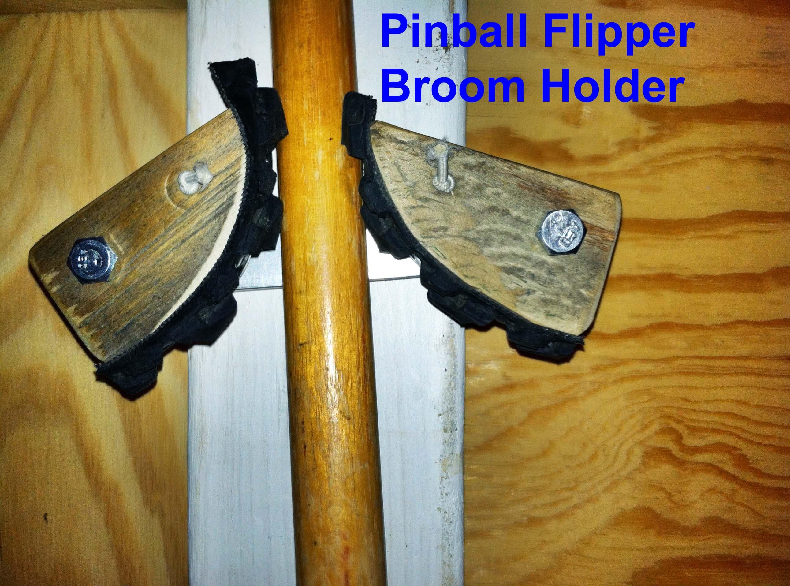 Garden Tool Holder - pinball flipper style