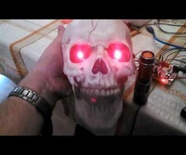 Talking, Motion Activated Skull