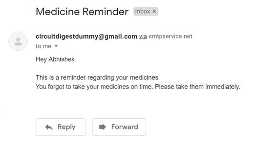 Working of IoT Medicine Reminder Alarm