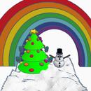 Christmas Multicolored scene