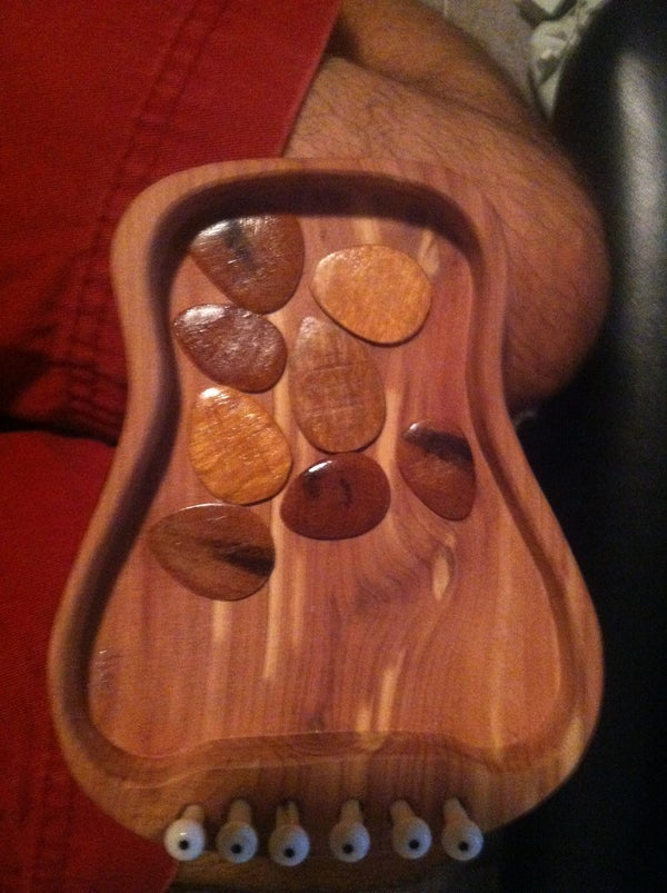 Hardwood Guitar Picks!
