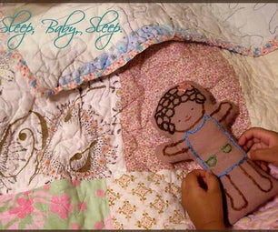 Embroider and Sew a Sleep Baby Doll