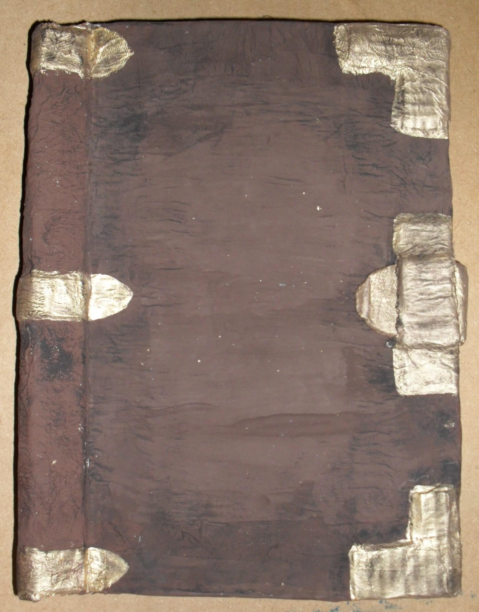 Cardboard Props: Antique Book/ Magic Spell Book (Papier Mache)