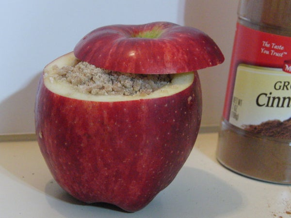 Apple Crumb Pie in the Apple